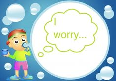 7 visualization tools for releasing worry: Vacuum cleaner, trap door, bubble, feather, worry soap, rock, and rocket ship