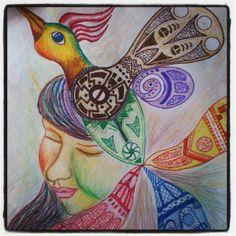 ilustración manualinha by kristian kezada, via Behance