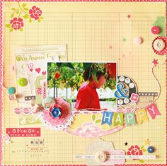 layout by Michiyo Nobeno via October Afternoon.  I don't usually create pages like this but I'm just ahhhhing over this and wish I could layer and cluster better.  for now I'll just drool