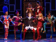 A scene from the Broadway show KINKY BOOTS starring Billy Porter and Stark Sands. It was nominated for 13 Tony awards.