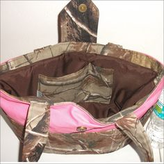 Pink camo purse with pockets handmade by PearlBeachTreasures, $27.00