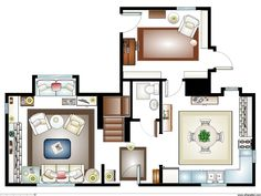 "floor plan for Rosehill cottage in the movie ""The Holiday"" - Google Search"