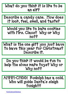 Writing Prompts for Christmas - Re-pinned by @PediaStaff – Please Visit http://ht.ly/63sNt for all our pediatric therapy pins