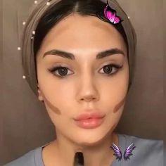 SOFT SILVER & BLACK MAKEUP GLAM TUTORIAL IDEA  <br> Eyebrow Makeup Tips, Eye Makeup Steps, Contour Makeup, Skin Makeup, Beauty Makeup, Eyeshadow Makeup, Flawless Makeup, Hijab Makeup, Natural Makeup Tips