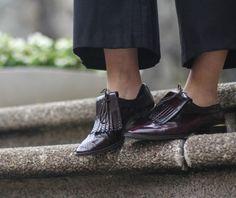 Zara-Burgundy-Cuero-Con-Flecos-bluchers-Zapatos-Planos-Uk-Tallas-6-7-Y-8