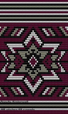 "The location where building and construction meets style, beaded crochet is the act of using beads to decorate crocheted products. ""Crochet"" is derived fro Tapestry Crochet Patterns, Bead Loom Patterns, Crochet Stitches Patterns, Cross Stitch Patterns, Crochet Shell Stitch, Bead Crochet, Beaded Embroidery, Cross Stitch Embroidery, Mochila Crochet"