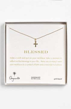 Dogeared 'Blessed' Cross Pendant Necklace