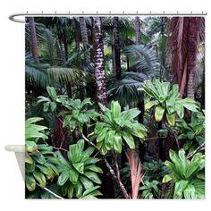Pineapple Camo Hawaiian Tropical Aloha Shirt Shower Curtain