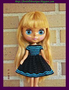Dress for Blythe doll - Vestido para muñeca Blythe de Fordollsboutique en Etsy