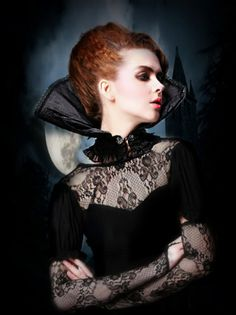 Victorian collar gothic choker black choker by TheAlteredCity