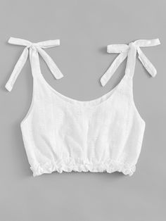 Frill Trim Knot Shoulder TopFor Women-romwe - Frill Trim Knot Shoulder TopFor Women-romwe Source by s_bogdanow - Teen Fashion Outfits, Diy Fashion, Trendy Outfits, Ideias Fashion, Summer Outfits, Cute Outfits, Fashion Sewing, Diy Clothing, Sewing Clothes