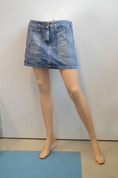 Gonna-Jeans-minigonna-BENETTON-con-tasche-taglia-42