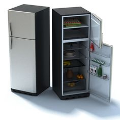 Luxury Home Refrigerator model, available formats MAX, appliance appliances, ready for animation and other projects