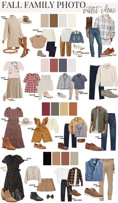 Fall Family Picture Outfits, Spring Family Pictures, Family Picture Colors, Family Photos What To Wear, Winter Family Photos, Fall Photo Outfits, Family Pics, Family Photography Outfits, Family Portrait Outfits
