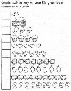 TE CUENTO UN CUENTO: Sumas y Restas para los más pequeños Color Worksheets For Preschool, Writing Practice Worksheets, Preschool Writing, Kindergarten Math Worksheets, Preschool Activities, Math For Kids, Kids Learning, Google, Montessori