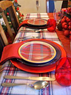 An Elegant Tartan Christmas Table Setting by Krisztina Williams via krisztinawilliams.com