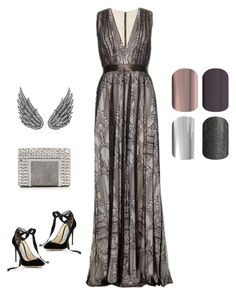 """Jamberry Red Carpet Style"" by kellie-guravich-medivitz on Polyvore featuring Alice + Olivia, Jimmy Choo and AS29"