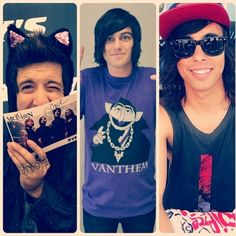 Austin Carlile - Of Mice & Men, Kellin Quinn - Sleeping With Sirens, Vic Fuentes - Pierce the Veil
