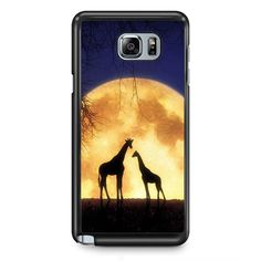 Giraffes Romantic Moon TATUM-4673 Samsung Phonecase Cover Samsung Galaxy Note 2 Note 3 Note 4 Note 5 Note Edge