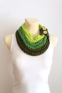 Tricot écharpe en vente - Green tricot Cowl - tressé châle - écharpe tricot  Cowl - b2b6ba46d78
