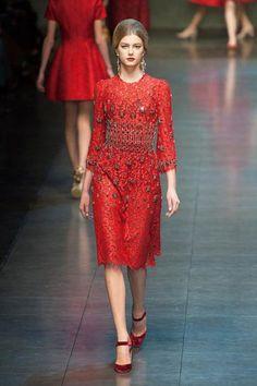 vestido negro de Dolce & Gabbana