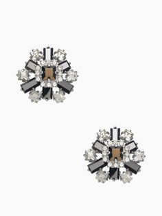space age floral studs