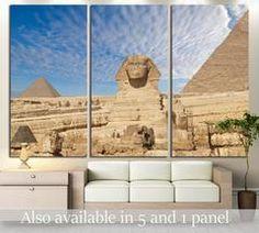 Sphinx Giza, Egypt №3170 Canvas Print