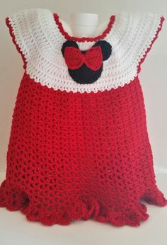 Girl Mouse Dress Red 18 Mos