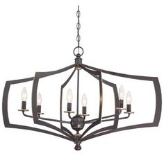 View the Minka Lavery 4376-579 6 Light Single Tier Chandeliers from the Middletown Collection at LightingDirect.com.