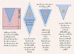 como hacer banderines de tela