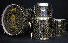 Illuminati ?  Custom drum kit from Shine Drums