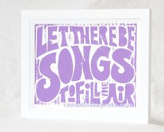 Hippie Baby Nursery Grateful Dead Ripple  Let there be Songs to Fill the Air Rock Posters. $18.00, via Etsy.