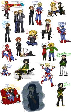 Avengers Sketch Dump. This is so adorable!