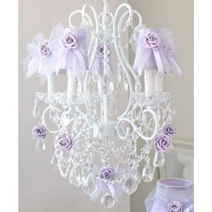 Exquisite Rose Lavender Chandelier