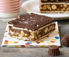Chocolate Caramel Peanut Bars: The perfect combo of chocolate, caramel and peanut butter. Completely irresistible!