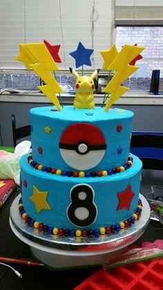 Pokemon Birthday cake! #pokemonbirthday