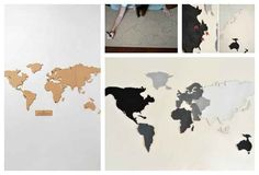 50 DIY Anthropologie Hacks For Every Facet Of Your Life, cork board map for pinning travels Cork Board Map, Cork Map, Diy Projects To Try, Art Projects, Crafty Craft, Crafting, Diy Art, Diy Gifts, Diy And Crafts
