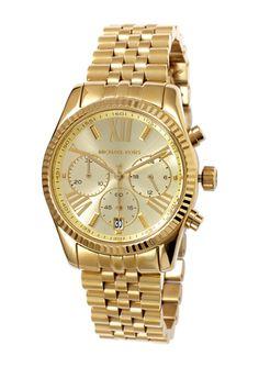 MICHAEL KORS Gold Ladies Lexington Bracelet Watch Michael Kors Sale, Designer Collection, Gold Watch, Bracelet Watch, Watches, Jewelry 2014, Lady, My Style, Bracelets