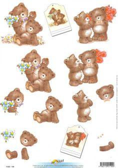 teddy 3d Sheets, Craft Corner, Easy Crafts, Decoupage, Card Ideas, Bears, The Creator, Graphic Design, Projects