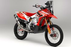 Maybe red can challenge orange. Honda 450 rally bike.