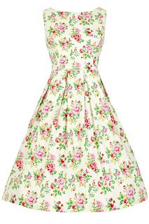 Traditionally, a tea dress was what you wear when you have tea. Nowadays, it tends to be a brightly coloured, cute, fun dress suitable to wear to weddings, garden parties, proms, barbecues, as bridesmaids dresses or for a day at the races, to 1950s style events and many more! The Tea Dress is designed to sit at the knee and the vivid and beautiful prints will really make you stand out in the crowd in this classic and elegant design.