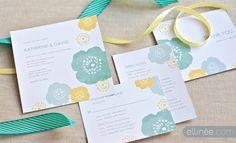 Bursting Blooms watercolor wedding set