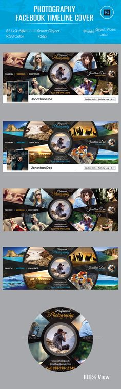 Photography Facebook Timeline Cover PSD Template #design Download: http://graphicriver.net/item/photography-facebook-timeline-cover/12261202?ref=ksioks
