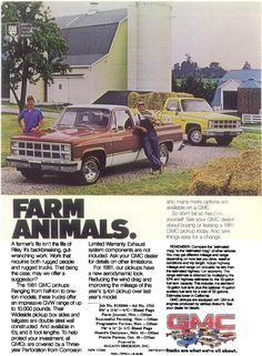 Another ad using Tollgate farm as the backdrop.