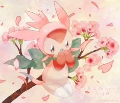 Day 1: Cherry Blossom Chespin by Yajuuu on DeviantArt