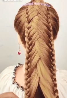 Easy Hairstyles For Long Hair, Braids For Long Hair, Trendy Hairstyles, Braided Hairstyles, Hair Up Styles, Medium Hair Styles, Medieval Hairstyles, Hair Tutorials For Medium Hair, Girl Hair Dos