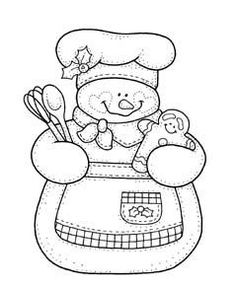 Gingerbread Snow Woman Coloring Page Colouring Pages, Adult Coloring Pages, Coloring Books, Christmas Embroidery, Hand Embroidery, Embroidery Designs, Applique Patterns, Craft Patterns, Christmas Colors