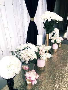 Black, gold and pink buffet