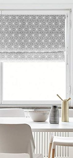 AmazonSmile: KARUILU home Quick Fix Washable Roman Window Shades Flat Fold, Geometric Color Pattern (30W x 63H, Leaves): Home & Kitchen Shades Window, Window Blinds, Blinds For Windows, Desks For Small Spaces, Desk Space, Color Patterns, Home Kitchens, Roman, Leaves