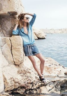 Denim Boyshort Madewell Spring 2014, Erin Wasson on location in Malta #denimmadewell